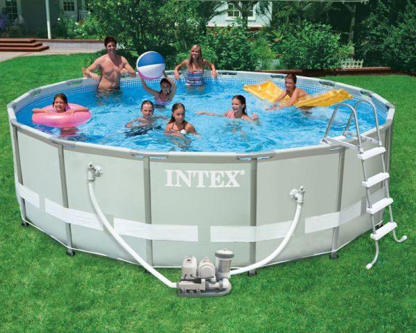 Intex Pool Ultra mit Chlorinator Pumpenkombination