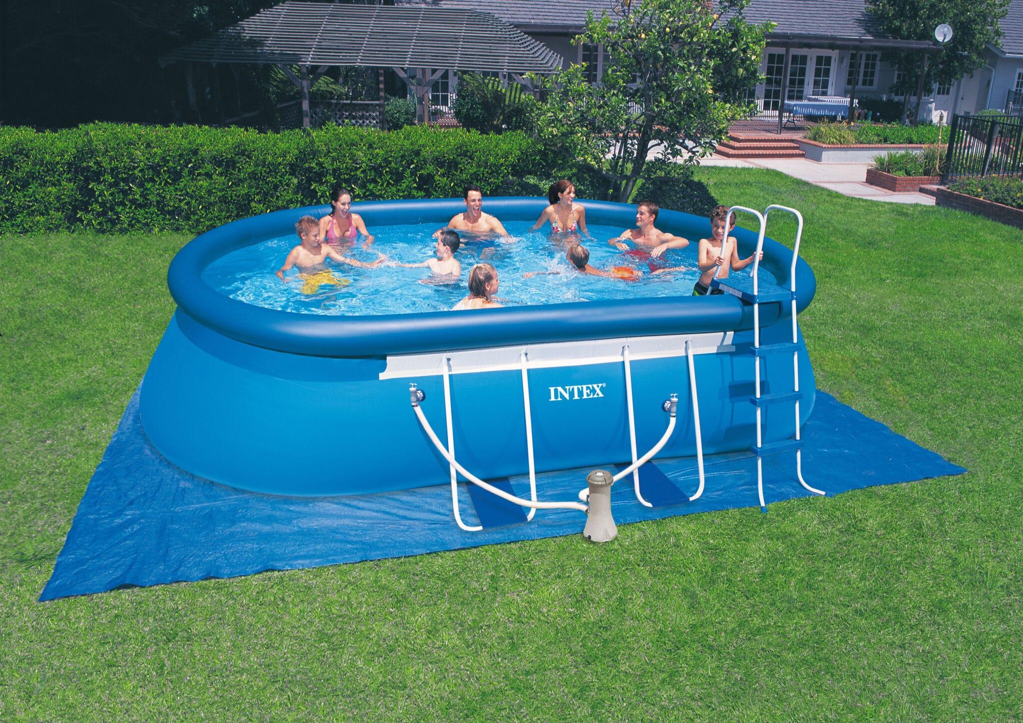 Intex Oval Frame Pool Komplett Set 549 x 305 x 107cm
