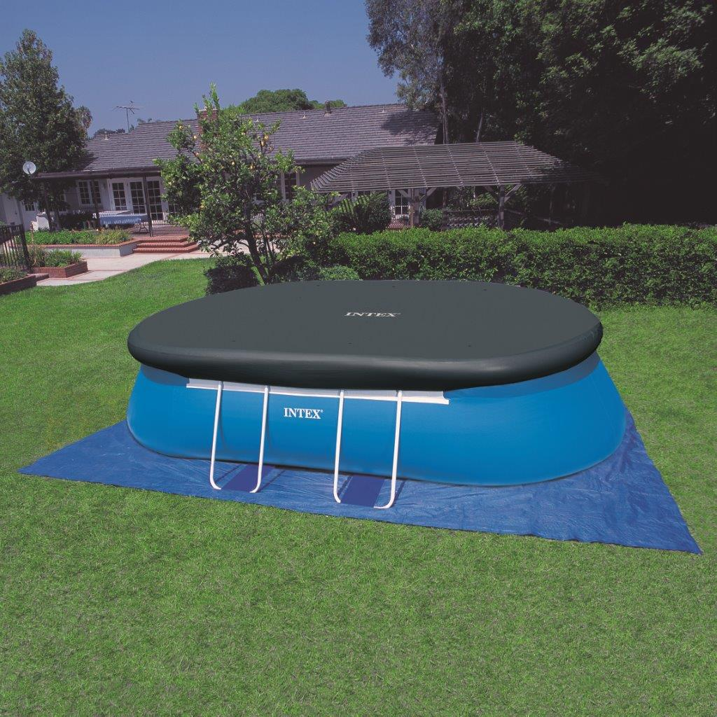 Intex abdeckplane oval easy frame ersatzfolie poolfolie for Gunstige poolsets