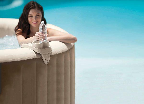 Intex Whirlpool - Intex SPA - Ablagetablett mit integriertem Getränkehalter 28500