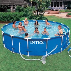 Intex Metal Frame Pool Komplett-Set 457 x 107 cm