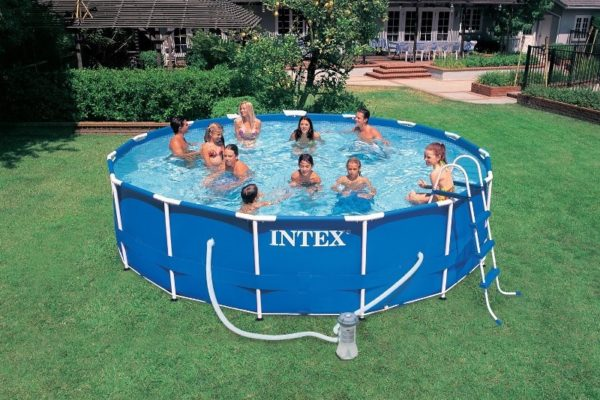 Intex Metal Frame Pool Komplett-Set 457 x 91 cm