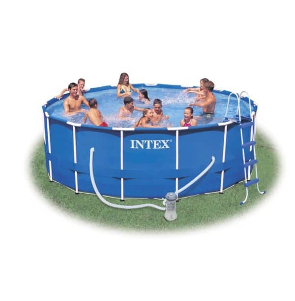 Intex Metal Frame Pool Komplett-Set 457 x 91 cm