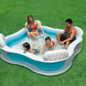 Intex Schwimm - Center Poolparty - 229 x 229 x 66 cm