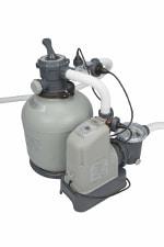 Intex Filteranlage - Krystal Clear Sandfilterpumpe und Salzwassersystem