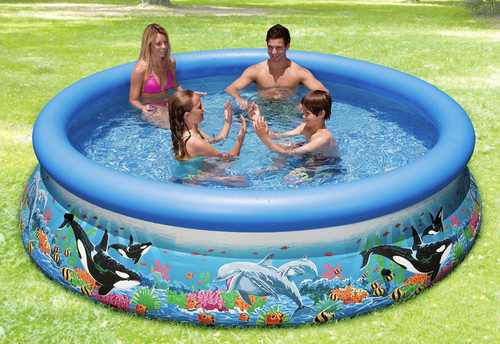 INTEX Swimming Pool EASY SET Oceanreef mit Pumpe