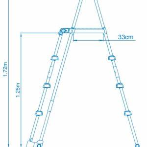 INTEX Pool Sicherheits Leiter mit Plattform für Pools bis 122cm