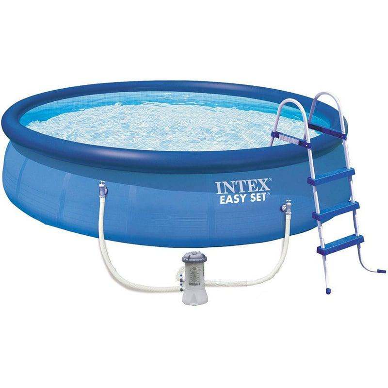 Intex swimming pool easy set 457 84 set eco 28180gn for Gunstige poolsets